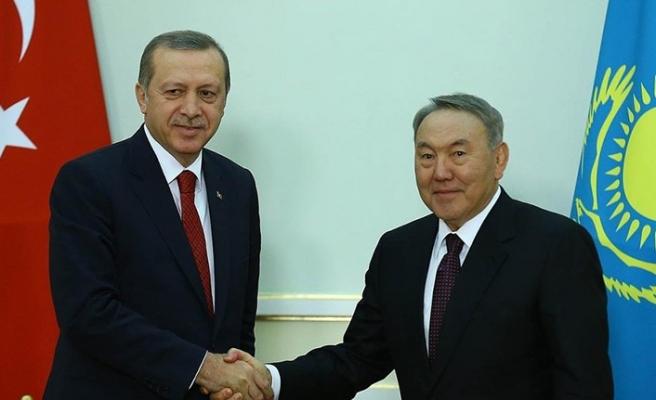 Nazarbayev bugün Türkiye'de