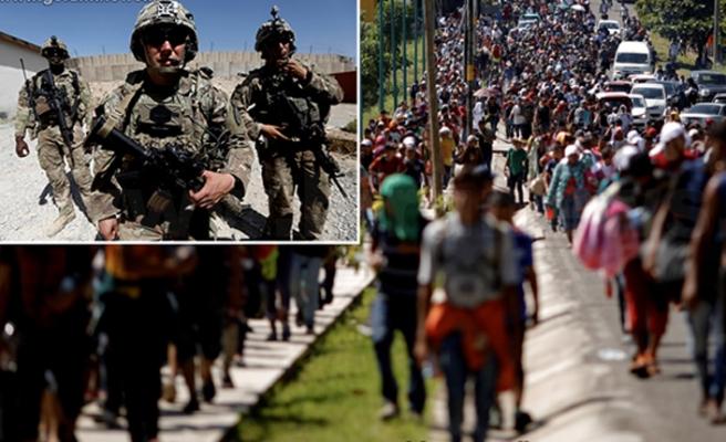5200 asker Meksika sınırına doğru yola çıktı