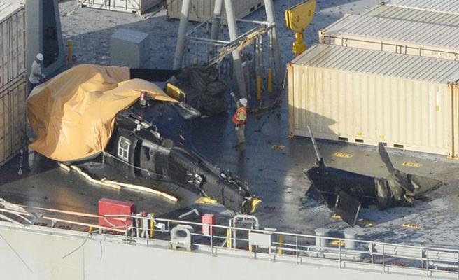 ABD helikopteri gemide kaza yaptı