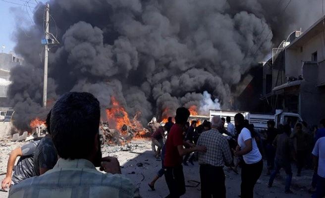 Azez'de patlama meydana geldi