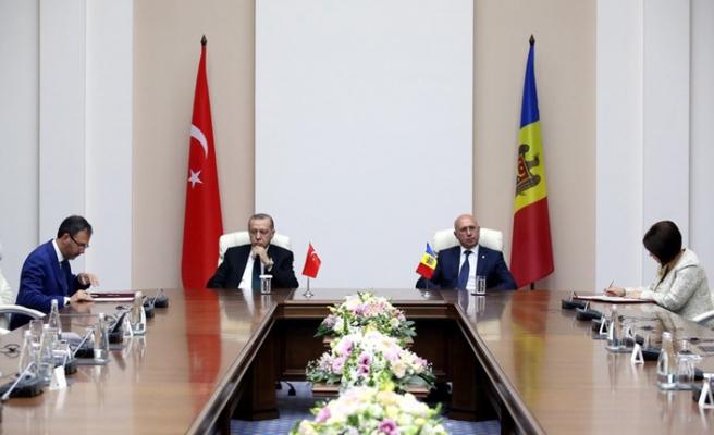 Başkan Erdoğan Moldova'da