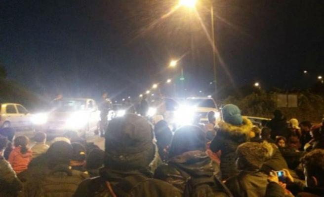 Batı Trakya'da göçmenlerden eylem