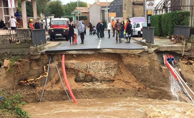 Fransa'da yağışlar yüzünden kırmızı alarm