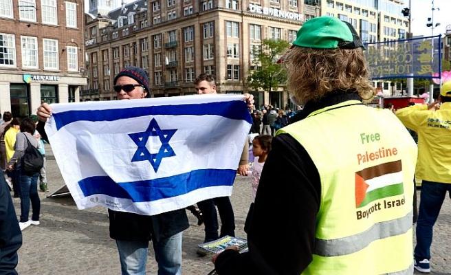 İsrail destekçisi Filistin gösterisinde olay çıkardı