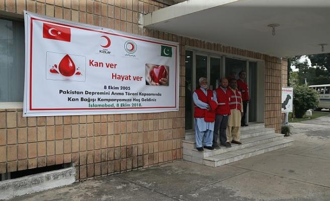 Keşmir depremi kan bağışıyla hatırlandı