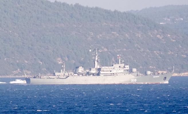 Rus Donanması'na ait gemide ilginç görüntüler