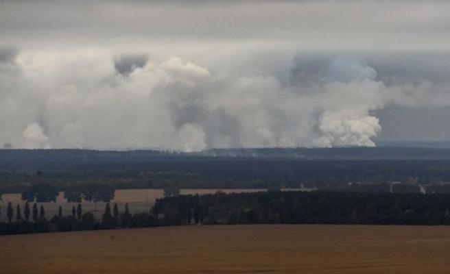 Ukrayna'da mühimmat deposu patladı, binlerce kişi tahliye edildi