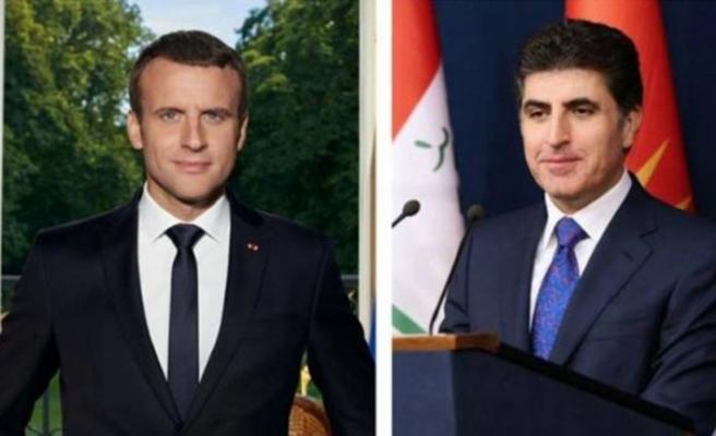 Macron ile Barzani, Irak'ta kurulacak yeni hükümet için görüştü
