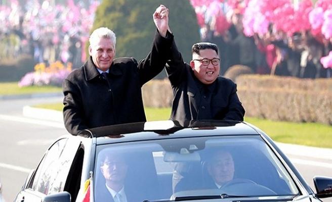 Küba Devlet Başkanı Rusya'dan sonra Kuzey Kore'de...