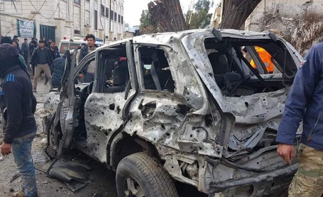 Azez'de bombalı saldırı, 1 ölü 20 yaralı