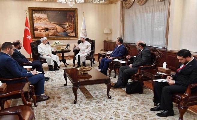 Bulgaristan Başmüftüsü Erbaş ile görüştü