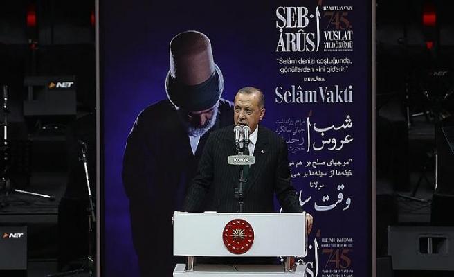 Cumhurbaşkanı Erdoğan Şeb-i Arus programına katıldı