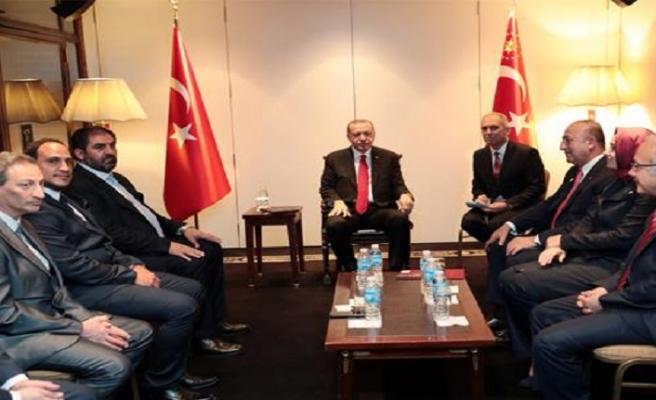 Erdoğan, Arjantin İslam Merkezi Başkanı ile görüştü