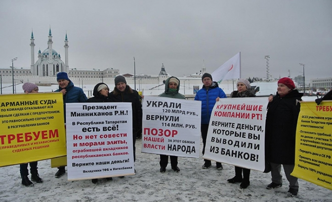 Kazan'da farklı gruplar tek bir amaç için toplandı