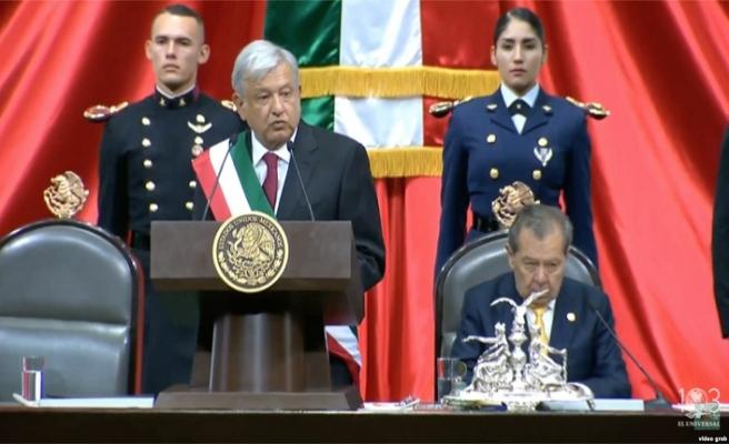 Meksika liderinin yemin töreninde Maduro protestosu