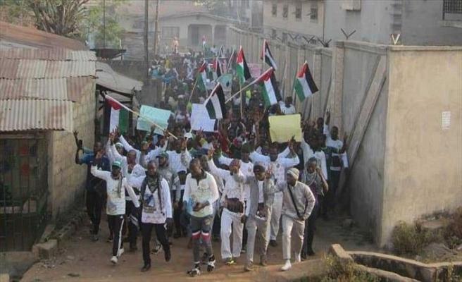 Nijeryalılar Filistin için yürüdü