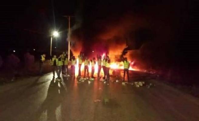 Ürdün'ün sarı yeleklileri de protesto düzenledi
