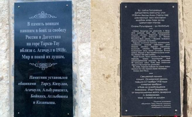 Dağıstan'daki Kumuklar Osmanlı anıtına sahip çıktı