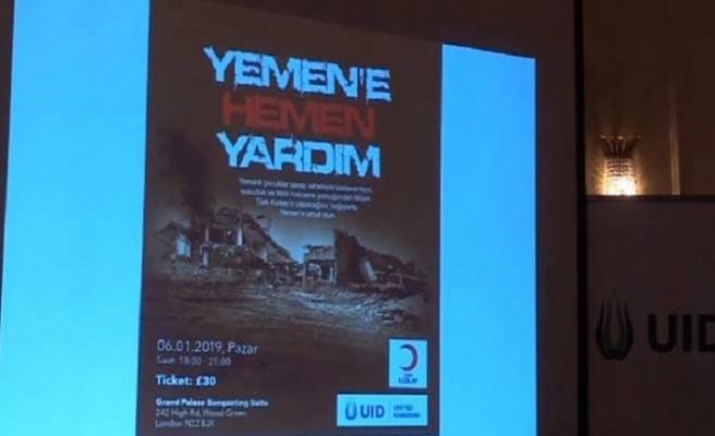 İngiltere'deki Türklerden Yemen için yardım gecesi
