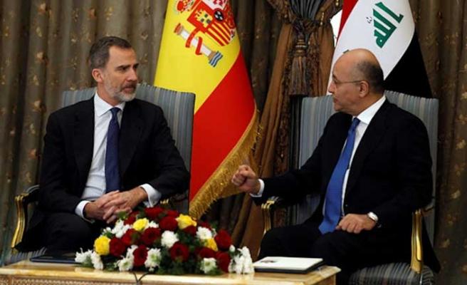 İspanya Kralı Irak'a geldi, bayrak krizi yaşandı