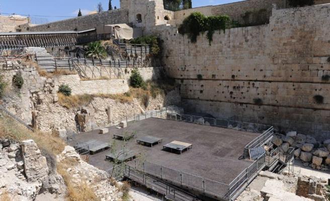 İsrail'den Burak Duvarı'na yetkisiz restorasyon
