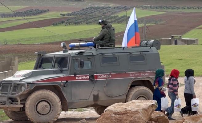 Rusya Münbiç devriyesi yaparken görüntülendi