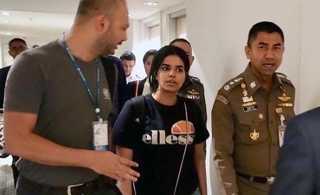 Tayland'da alıkonulan Suudi kadın BM gözetiminde havalimanından ayrıldı