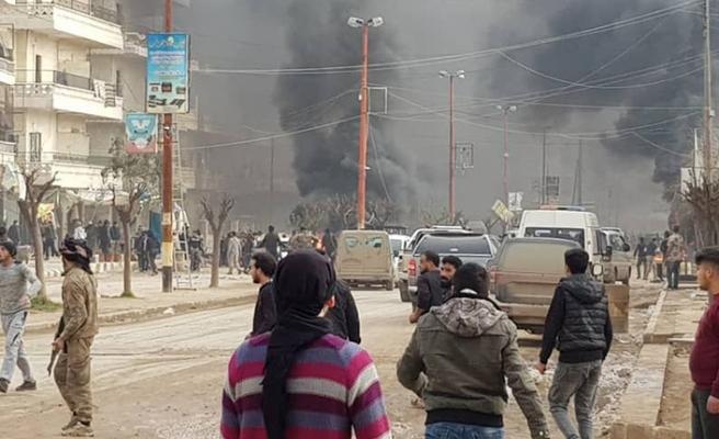 Afrin'de bombalı araç saldırısı! Ölü ve yaralılar var