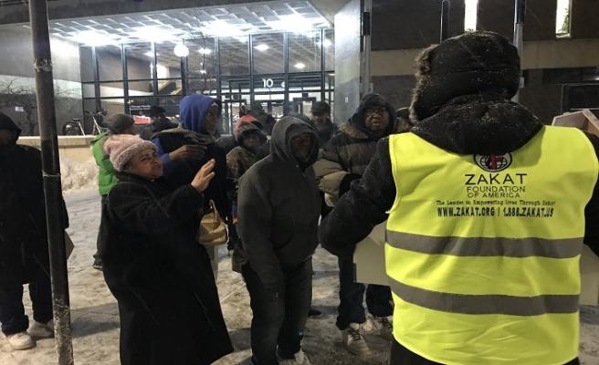 Amerika Zekat Vakfından Chicago'daki evsizlere yardım