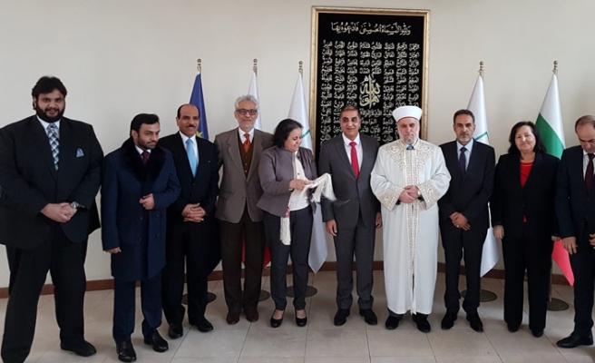 Bulgaristan Başmüftüsü  Arap Büyükelçilerle biraraya geldi