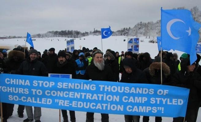 Çin'in Sincan politikası İsveç'te protesto edildi