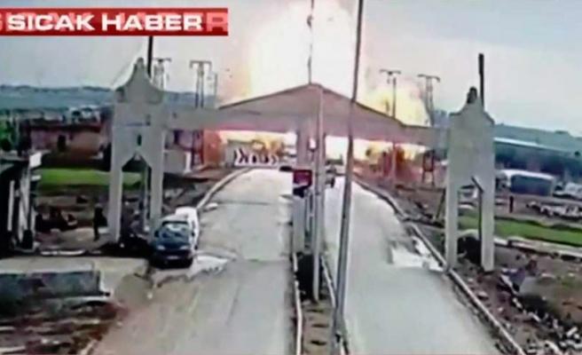 Çobanbeyli sınır kapısında büyük patlama, 2 yaralı