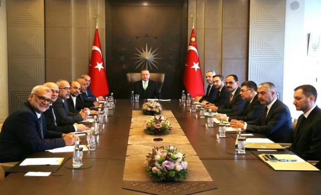 Erdoğan İsrail'in Arap milletvekillerini kabul etti