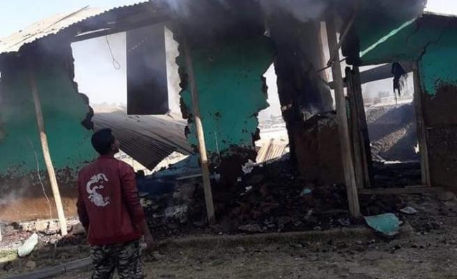 Etiyopya'da Hz.Meryem resmi yüzünden iki cami ateşe verildi