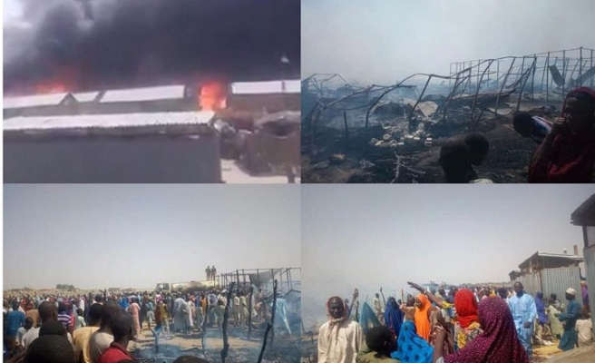 Nijerya'da yerinden edilenlerin kampında yangın, 5 çocuk öldü
