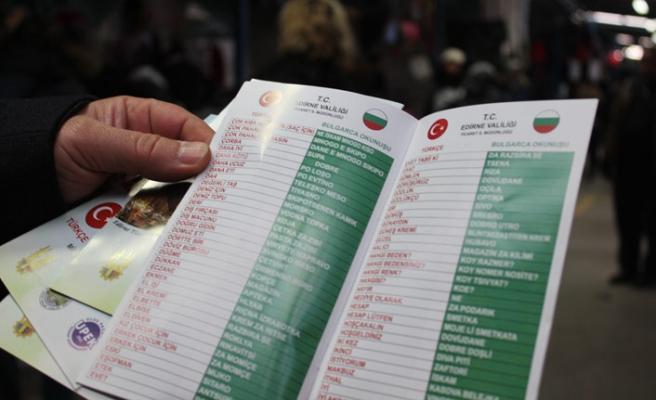 Pazar esnafına Bulgarca ve Yunanca sözlük dağıtıldı