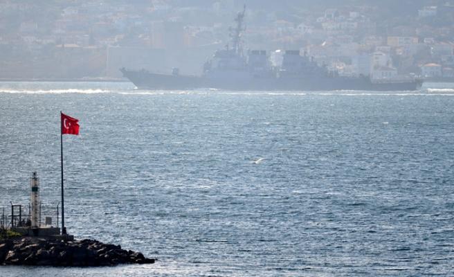 Gideceği liman belli olmayan gemiler Boğaz'dan geçti