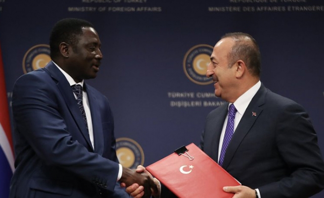 Gambiya Dışişleri Bakanı Türkiye'de