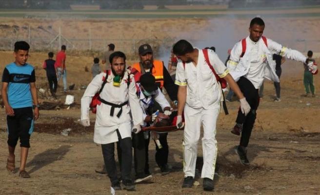 Gazze sınırındaki gösterilerde 16 Filistinli yaralandı