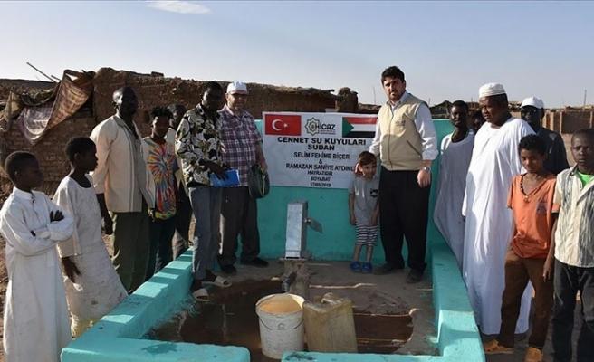 Hicaz Derneği Sudan'da 20 su kuyusu açtı