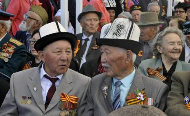 Kırgızistan'da Kızıl Ordu'nun Zafer Bayramı kutlanıyor