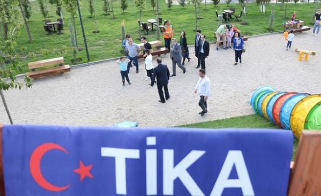 Tiran'da TİKA'nın inşa ettiği '15 Temmuz Demokrasi Parkı' açıldı