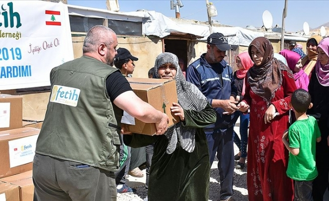 Türkiye'den Lübnan'daki Filistinli mültecilere ramazan yardımı