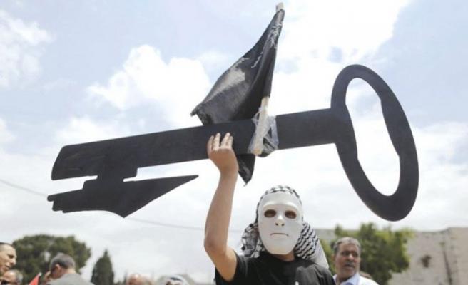 Yüzyılın Anlaşması planı Gazze'de protesto edildi