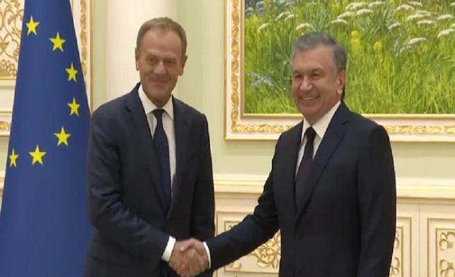 AB Konseyi Başkanı Tusk Özbekistan'da