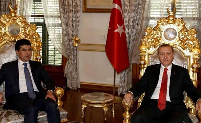 Barzani Cumhurbaşkanı Erdoğan'la görüşmek üzere İstanbul'da