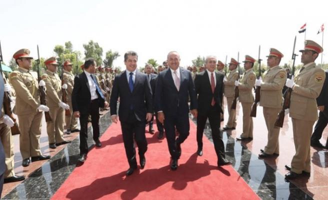 Çavuşoğlu IKBY Güvenlik Ajansı Müsteşarı Barzani ile görüştü