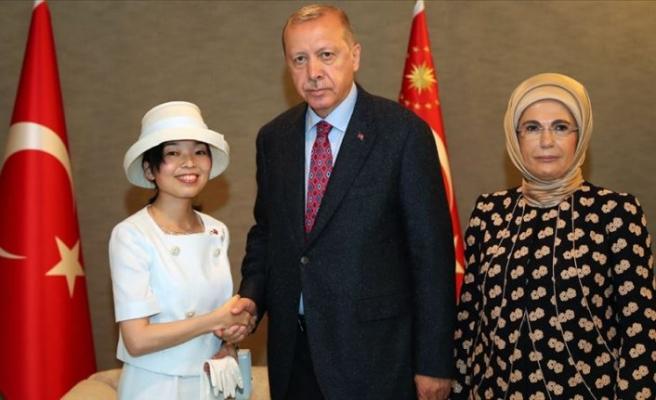 Cumhurbaşkanı Erdoğan Altes Prenses Akiko ile görüştü