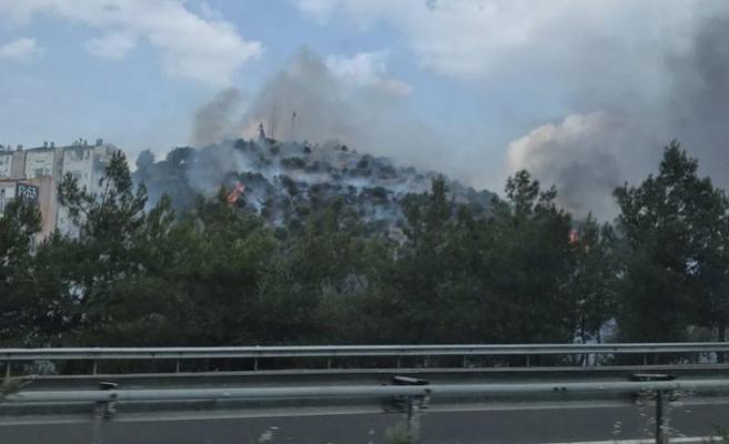 İzmir'de askeri lojmanların yakınında yangın