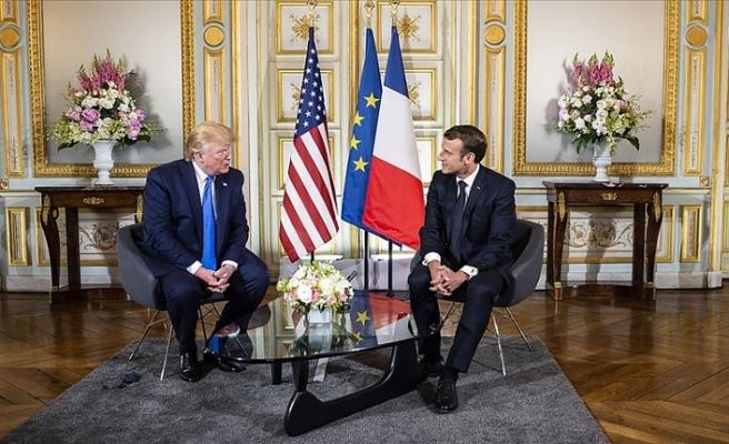 Macron ile Trump bir araya geldi